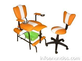 Muebles para peluquer a sillas para corte juego de for Sillas para hacer pedicure