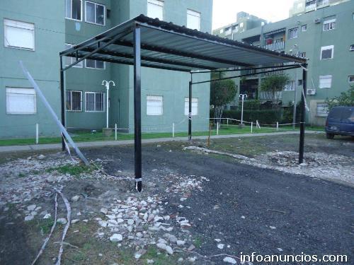 Fotos de techos para garaje cocheras policarbonato chapa for Techos metalicos para cocheras