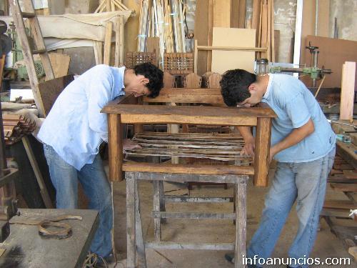 Muebles r sticos en madera y cuero estilo campo en - Muebles rusticos de campo ...