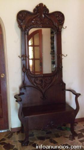 Mueble de recibidor antiguo en roble en p rez zeled n - Perchero recibidor antiguo ...