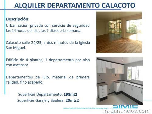 Calacoto departamento en alquiler tel fono for Busco alquiler de habitacion