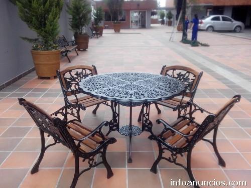 Muebles Para Jardin Terrazas Mesas Y Sillas En Aluminio Fundido - Sillas-de-forja-para-jardin