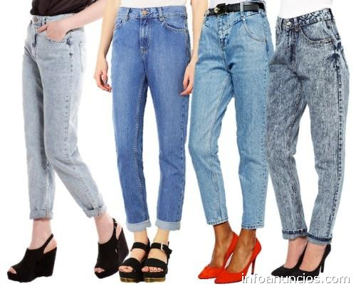 Jeans Tiro Alto Hombre