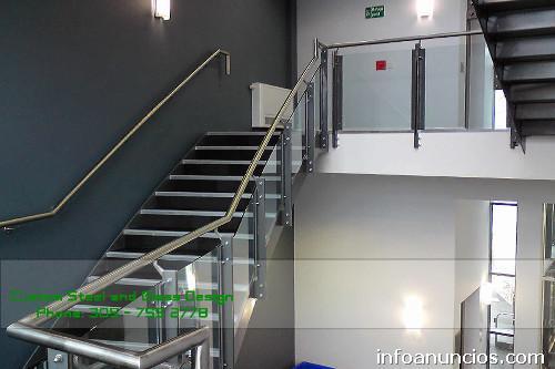 Fotos de escaleras y barandas de vidrio puertas de vidrio - Escaleras de vidrio ...