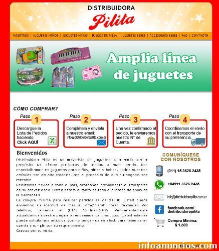 9c40d62b2 Distribuidora Mayorista De Juguetes Envíos A Pcia De Salta ...