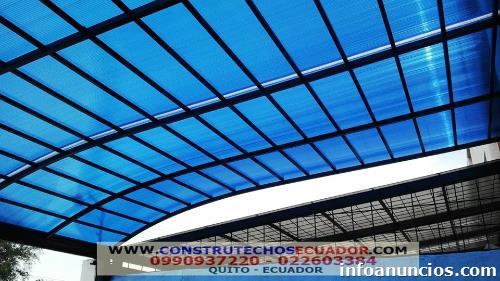 Fotos de p rgolas de madera con vidrio o policarbonato en - Vidrio de policarbonato ...