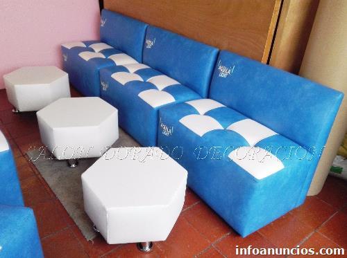 fotos de nuevos puff con espaldar sillas mesas decoracin para negocios y el hogar en suba